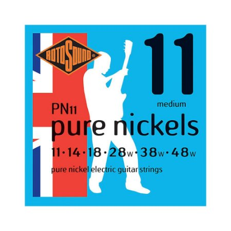 Encordoamento para Guitarra Rotosound Pure Nickels PN11