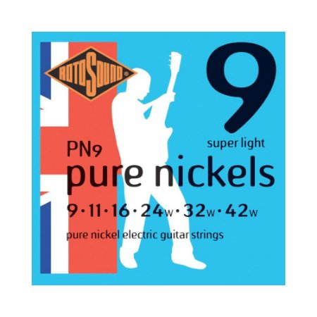 Encordoamento para Guitarra Rotosound Pure Nickels PN9