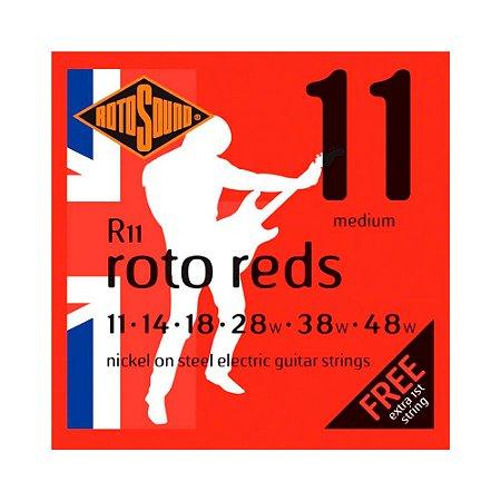 Encordoamento para Guitarra Rotosound Red Nickel R11