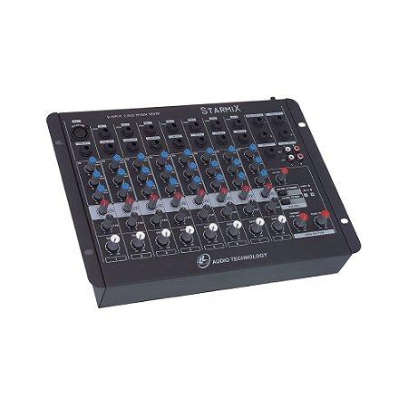 Mesa De Som Mixer Ll Audio S802R  8 Canais