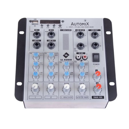 Mesa De Som Mixer Automix LL Audio A502R BT 4 Canais 12 V