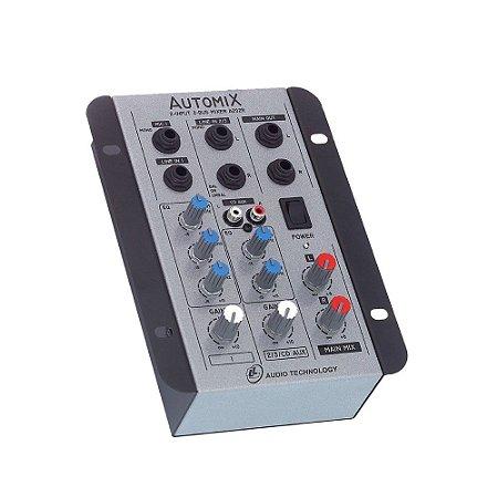 Mesa De Som Mixer Automix LL Audio A202R 2 Canais