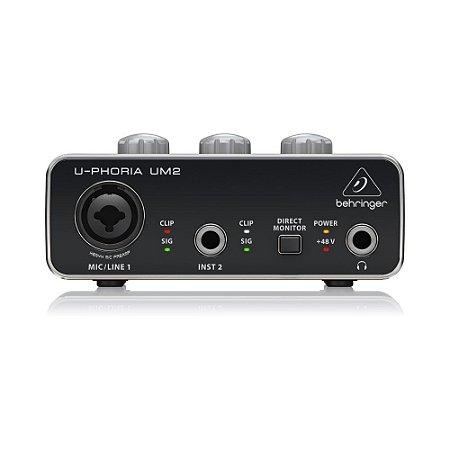 Interface De Audio Behringer U-Phoria UM2 USB 2x2 16-bits