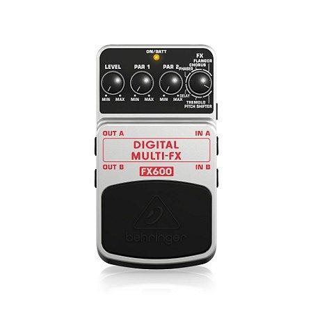 Pedal Para Guitarra Behringer FX600 Multi-efeito Estéreo Dig