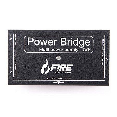 Fonte Fire Custom Shop Power Bridge 9/18v Preta P/12 pedais