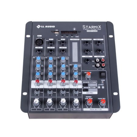 Mesa De Som Mixer Ll Audio S402R  BT 4 Canais Bluetooth