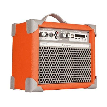 Caixa Som Amplificada Multiuso Up!5 Light Orange FM/USB/BT