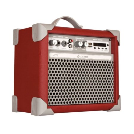 Caixa De Som Amplificada Multiuso Up!5 Deep Red FM/USB/BT