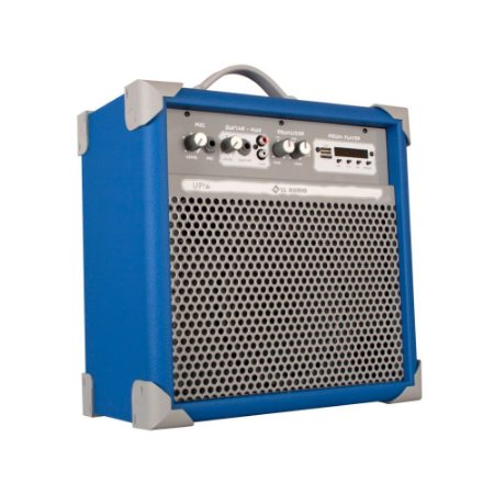 Caixa De Som Amplificada Multiuso Up!6 Sky Blue Fm/usb/BT