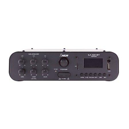 Amplificador Compacto De Som SA100 BT Optical 100 W Rms