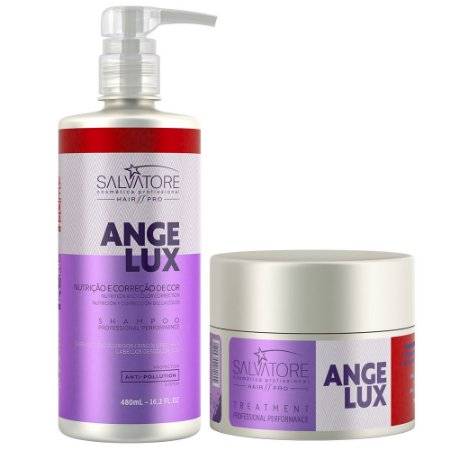 Hair Pró Kit Angelux Shampoo 480ml + Condicionador 250ml