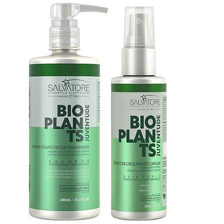 Hair Pró Kit Bioplants Shampoo 480ml + Tônico Capilar 120ml