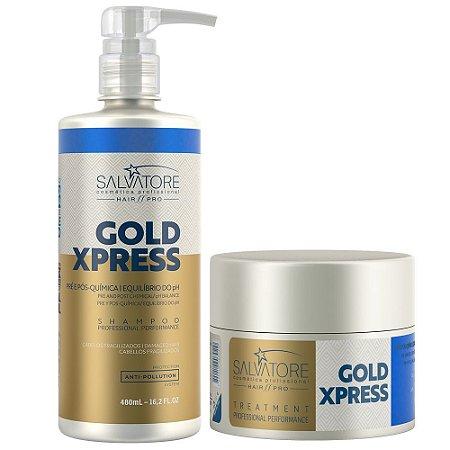 Hair Pró Kit Gold Xpress Shampoo 480ml+Condicionador 250ml