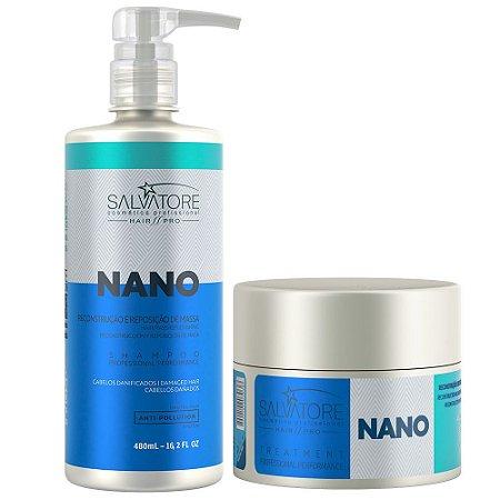 Kit Salvatore Nano Reconstrutor Shampoo 480ml + Condicionador 250ml