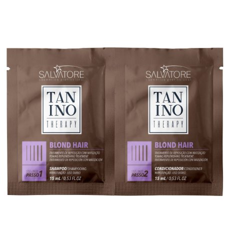 Tanino Therapy Kit Viagem Blond Hair Sachet Shampoo 15ml+Condicionador 15ml