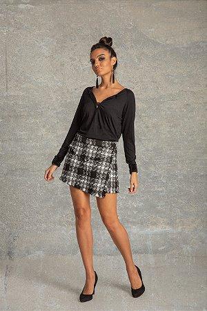 Short Saia Tweed Fany