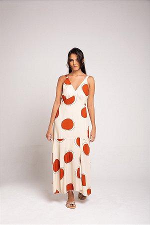 Vestido Midi Fenda - D'Angola