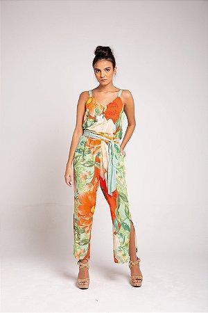 Calça Pantacourt - Floral Maxi