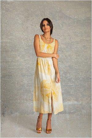 Vestido Midi Alça - Florescer