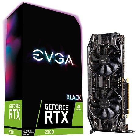 Placa de Vídeo EVGA NVIDIA GeForce RTX 2080 Black Gaming, 8GB, GDDR6 - 08G-P4-2081-KR