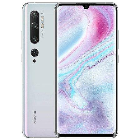 """Smartphone Xiaomi Mi Note 10, 128GB, 108MP, Tela 6.7"""", Branco Glacier White"""