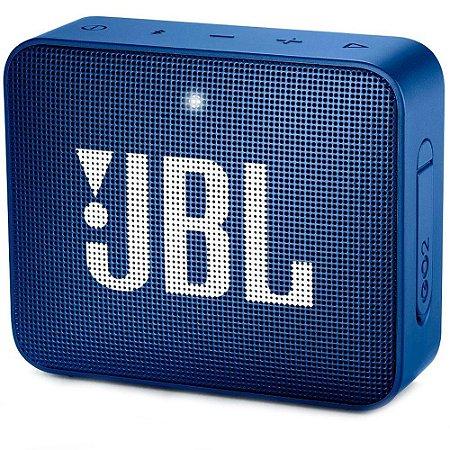 Caixa de Som JBL Go 2, Bluetooth, À Prova D´Água, 3.1W, Azul - JBLGO2BLU