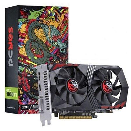 PLACA DE VIDEO 128 BITS 4GB DDR5 GEFORCE GTX 1050TI PCYES PA1050TI12804G5DF