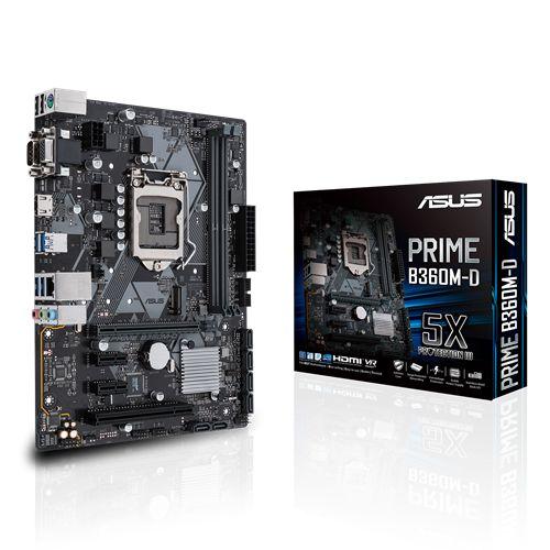 Placa Mãe Asus Prime B360M-D Intel Soquete LGA 1151