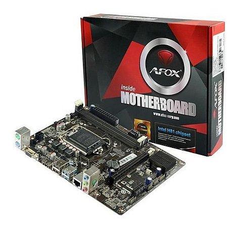 Kit Processador I5 4570 3,60 Ghz + Placa H81 Afox + 4gb 1600