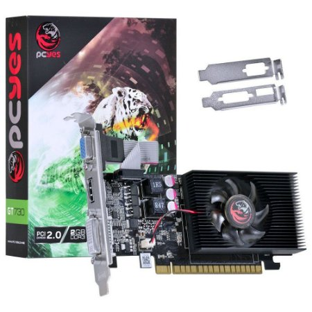 Placa De Video Geforce Nvidia Pcyes Gt 730 2gb Ddr5 Gt730