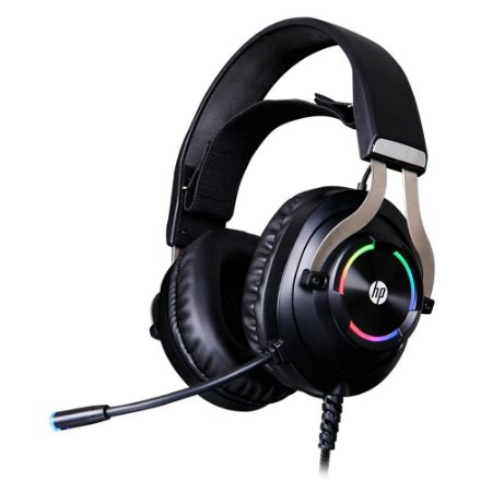 Headset Gamer HP RGB, Drivers 50mm, P2/USB, Preto - 9AJ68AA