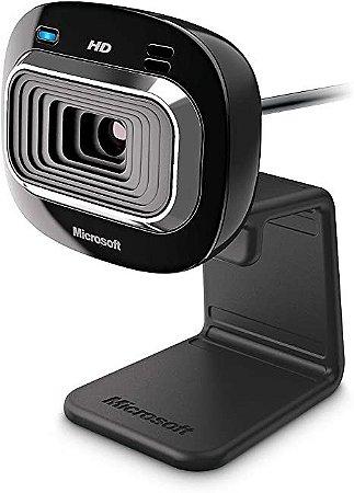 Webcam Microsoft LifeCam HD-3000 HD USB Preta - Microsoft
