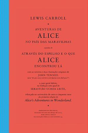 AVENTURAS DE ALICE NO PAÍS DAS MARAVILHAS SEGUIDAS DE ATRAVÉS DO ESPELHO E O QUE ALICE ENCONTROU LÁ - BOX COM 2 VOLUMES -