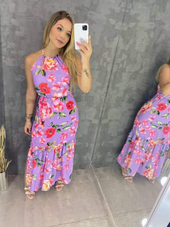 Vestido Lilás Floral