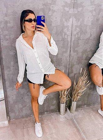 Camisa Longa Lisa - Chemise
