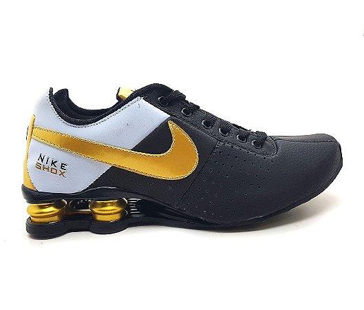 equipo de repuesto Formular  Tênis Nike Shox Junior 4 Molas Preto-Dourado - Loja de Multimarcas Online |  Dalas