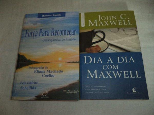 LIVROS- FORÇA PARA RECOMEÇAR E DIA A DIA- TUDO POR R$ 30,00