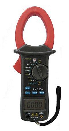 Alicate Amperímetro Digital 3 3/4 Díg. - PM-3230 - Polimed