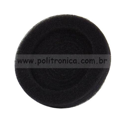 Espuma (Protetor) para Fone de Ouvido - Média - Preta - Lika
