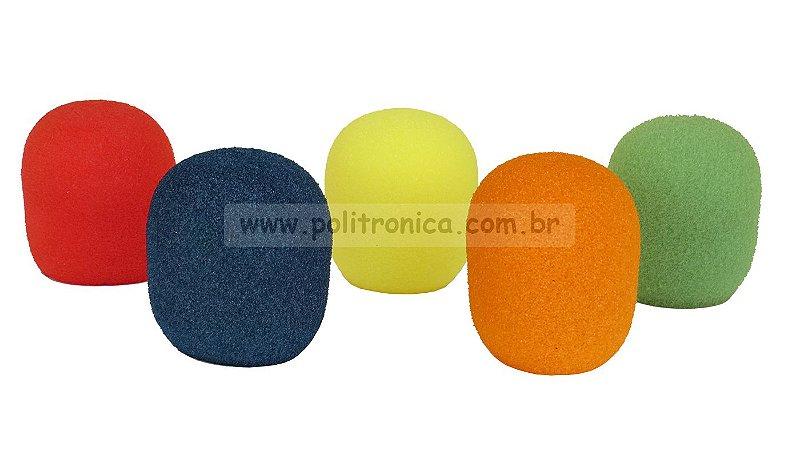 Espuma (Protetor) para Microfone SM-58/Bola - PL6 - Colorida - Lika