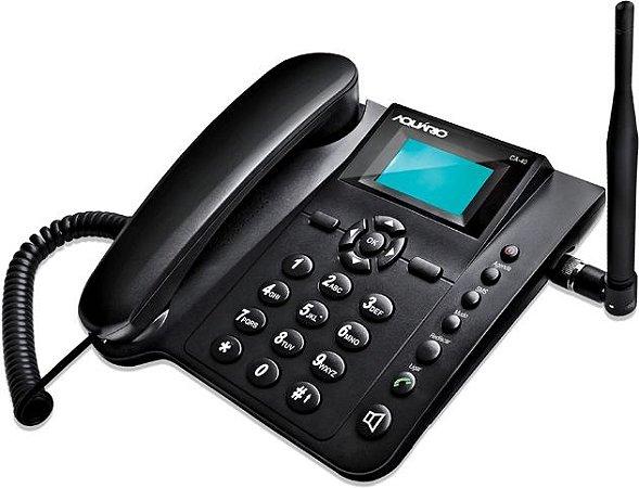 Telefone Celular de Mesa Quadriband 850, 900, 1800 e 1900 MHz - CA-40 - Aquário