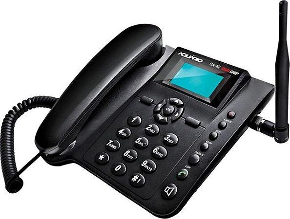 Telefone Celular de Mesa Quadriband Dual Chip 850, 900, 1800 e 1900 MHz - CA-42S - Aquário