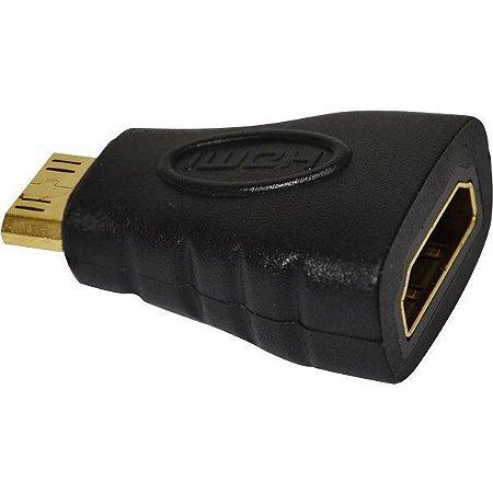 Adaptador HDMI Femea / HDMI Mini 19P Macho - Importado