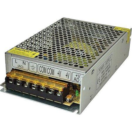 Fonte Alimentação Estab. 12VDC/ 10A - 120W - 110V/ 220V - Importado