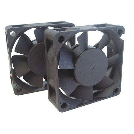 Ventilador 60X60X20MM 12VDC Nylon - 2 Fios - Bucha - Importado