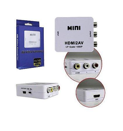 Conversor HDMI para AV (3 X RCA) - Importado