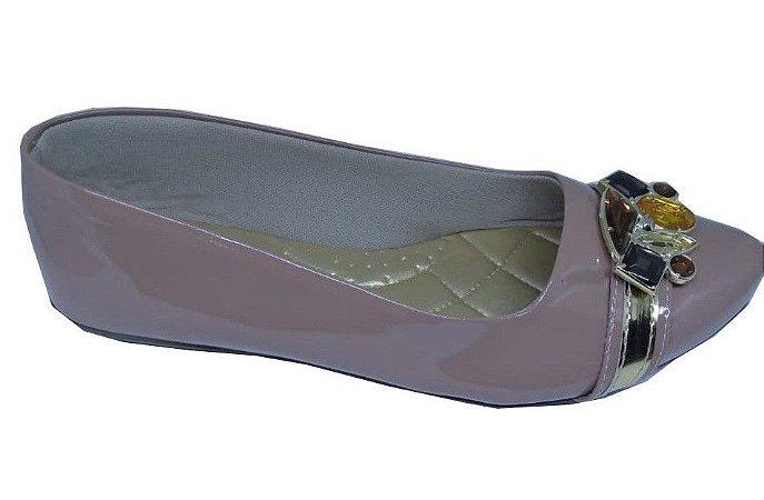 sapatilha no atacado cor nude com pedraria