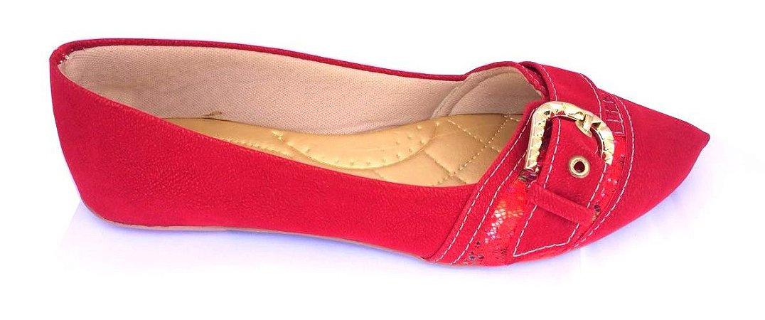 8970f70f5 sapatilha no atacado vermelho enfeite fivela em abs - Sapatilhas ...