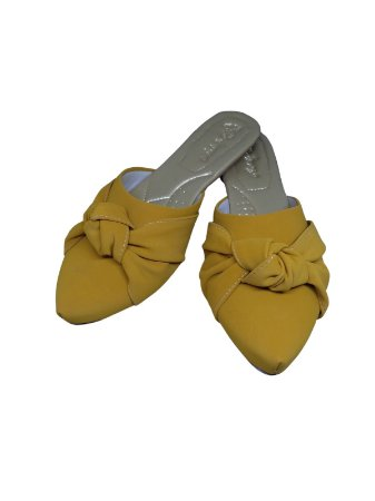 Sapatilha Mule amarelo Lotus
