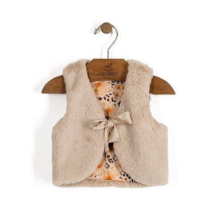 Colete de Pele | Up Baby - Lacinho Marfim